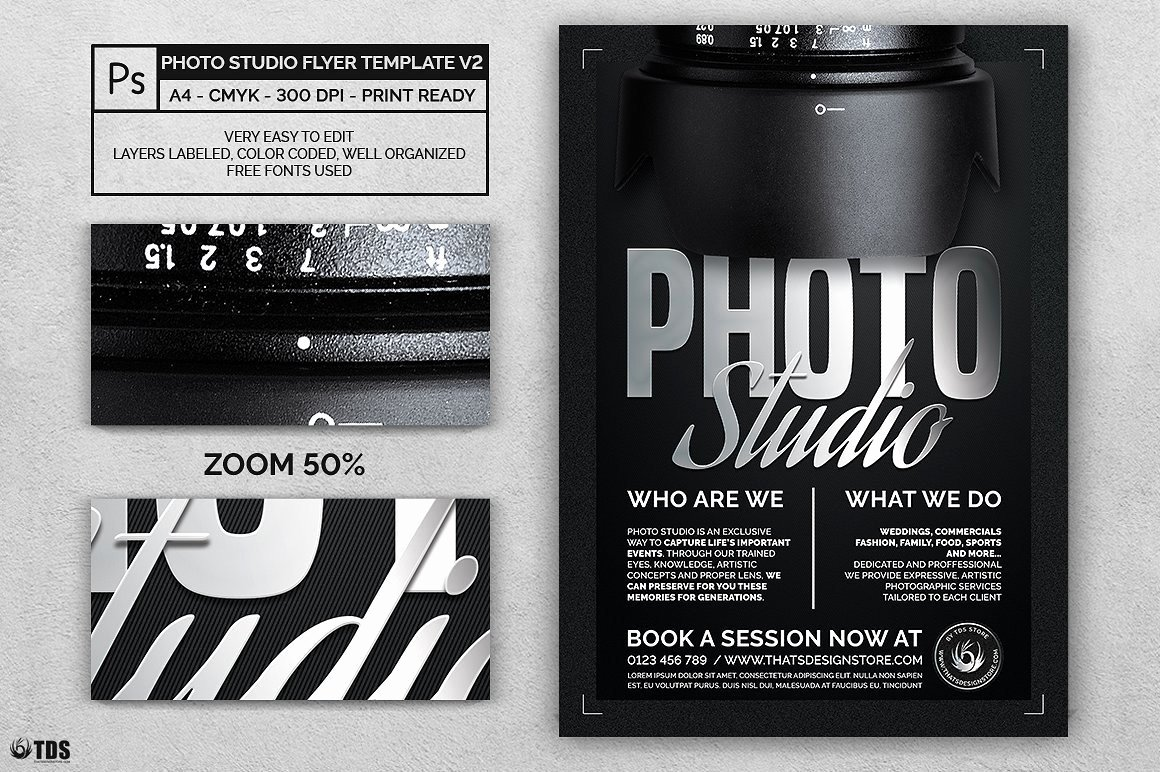 Photography Flyer Template Free Beautiful Studio Flyer Template for Shop Design Psd V2