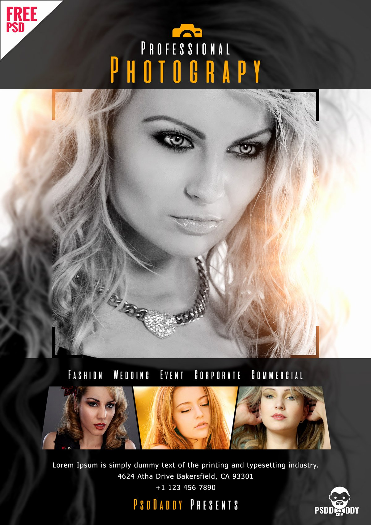 Photography Flyer Template Free Best Of [download]professional Graphy Flyer Psd