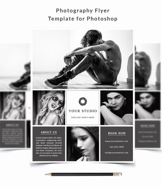 Photography Flyer Template Free Elegant Graphy Flyer Template 011 for Shop 8 5 X 11