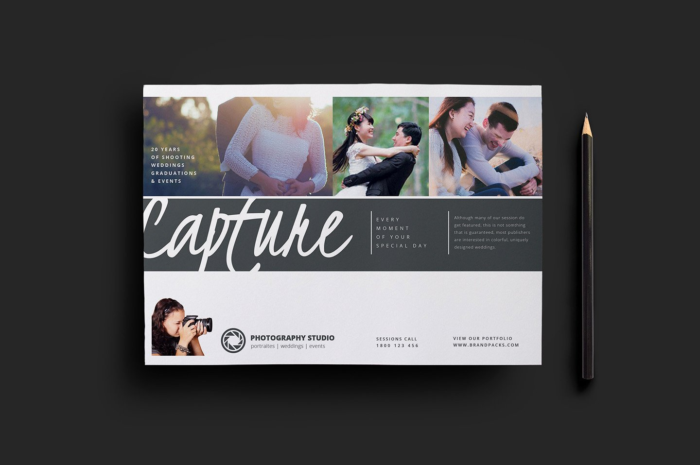 Photography Flyer Template Free Elegant Wedding Grapher Flyer Template V3 Brandpacks