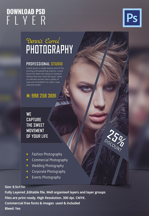 Photography Flyer Template Free Fresh Graphy Flyer Template 31 Free Psd format Download
