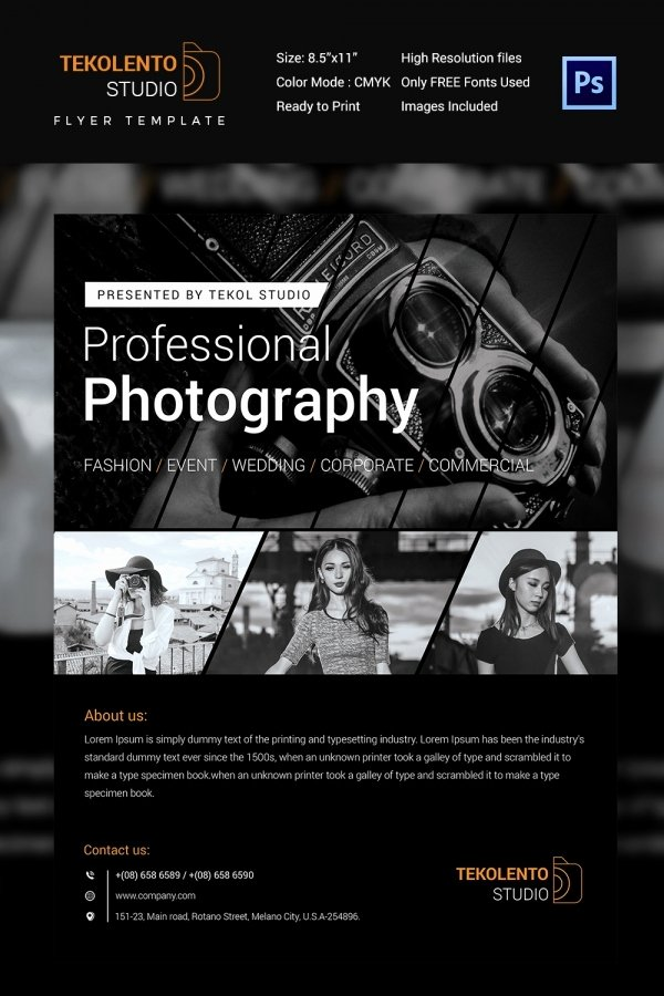 Photography Flyer Template Free Fresh Graphy Flyer Template 41 Free Psd format Download