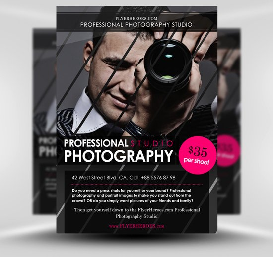 Photography Flyer Template Free Inspirational Free Graphy Flyer Template Flyerheroes