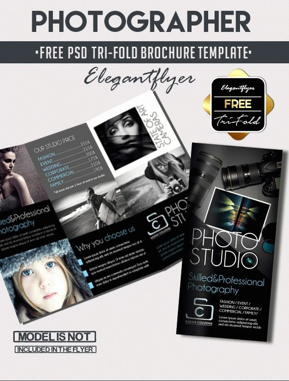 Photography Flyer Template Free Inspirational Grapher – Free Tri Fold Psd Brochure Template – by