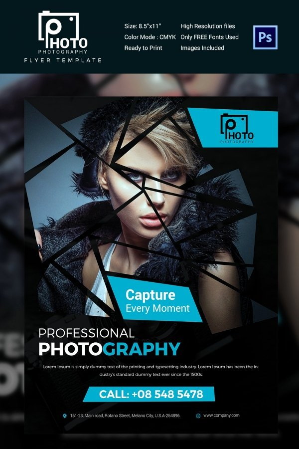 Photography Flyer Template Free Lovely 30 Graphy Flyer Templates In Psd Word Publisher