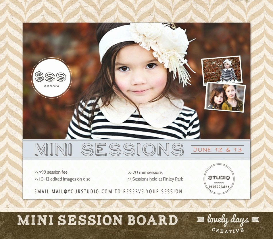 Photography Flyer Template Free New Graphy Mini Session Template Board Flyer Ad for