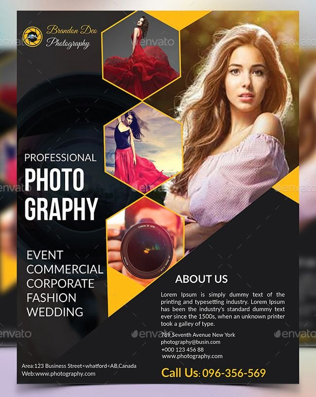 Photography Flyer Template Free Unique 20 Fashion Graphy Flyer