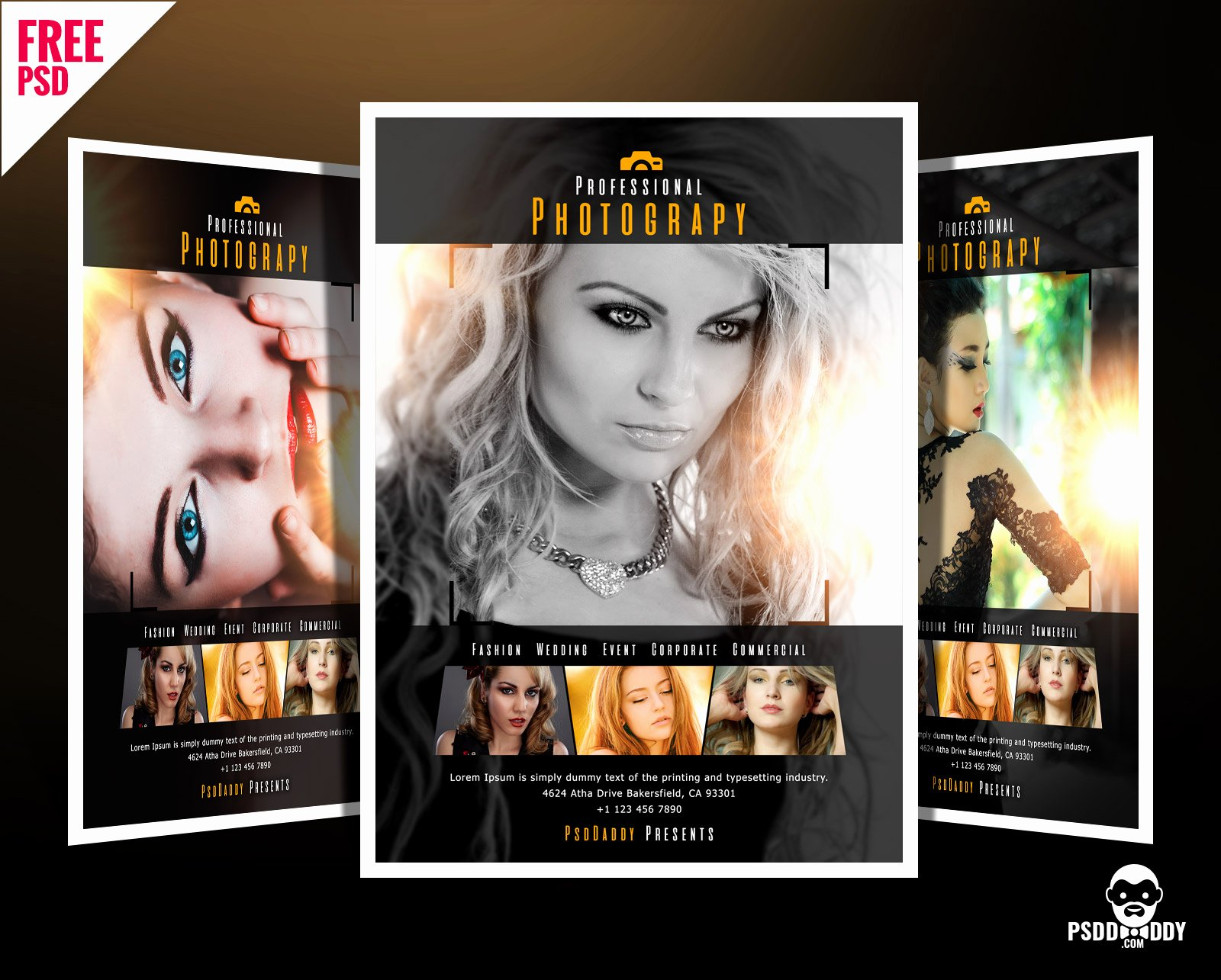 Photography Flyer Template Free Unique [download]professional Graphy Flyer Psd