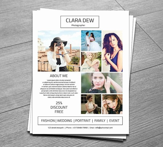 Photography Flyer Template Free Unique Graphy Flyer Template