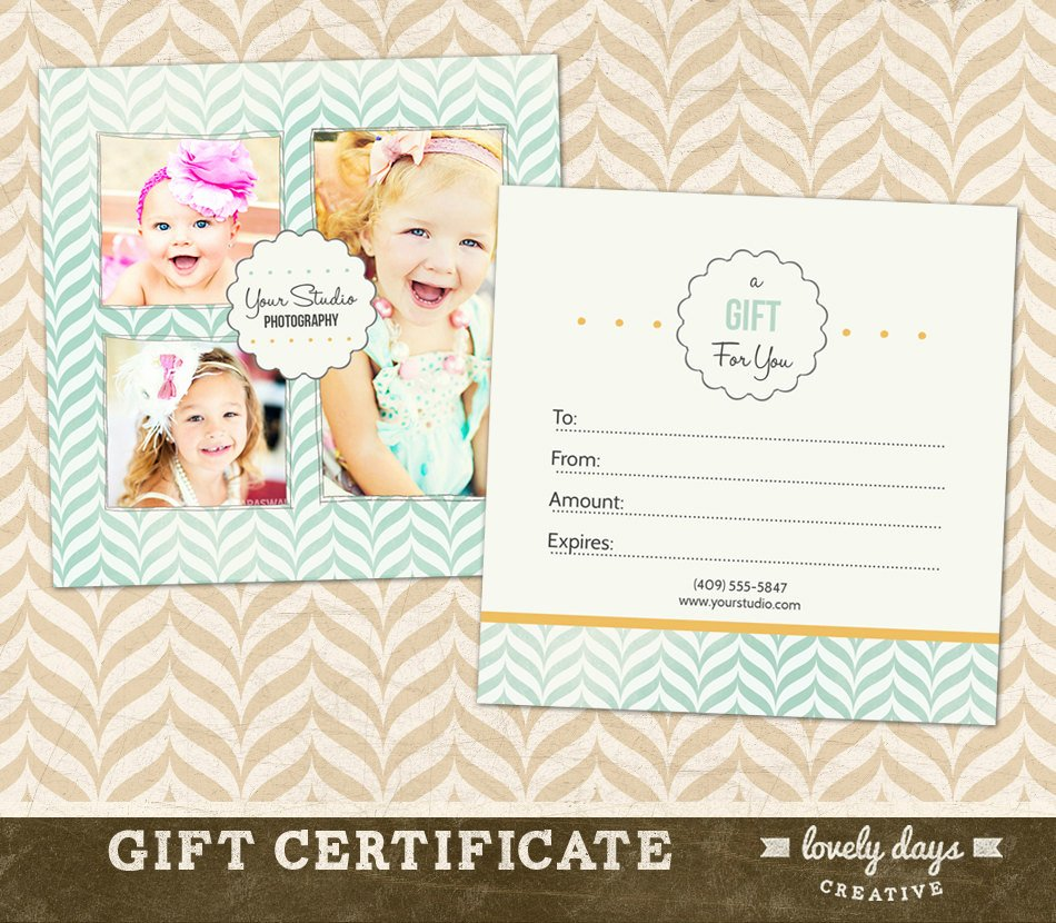 Photography Gift Certificate Template Free Awesome Graphy Gift Certificate Template for by