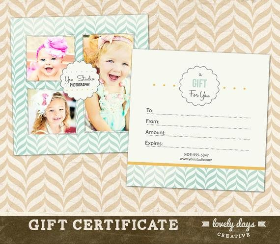 Photography Gift Certificate Template Free Awesome Graphy Gift Certificate Template for Professional