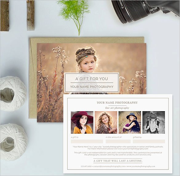 Photography Gift Certificate Template Free Awesome Graphy Gift Certificate Templates – 17 Free Word