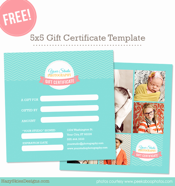 Photography Gift Certificate Template Free Best Of Free Gift Card Template for Graphers