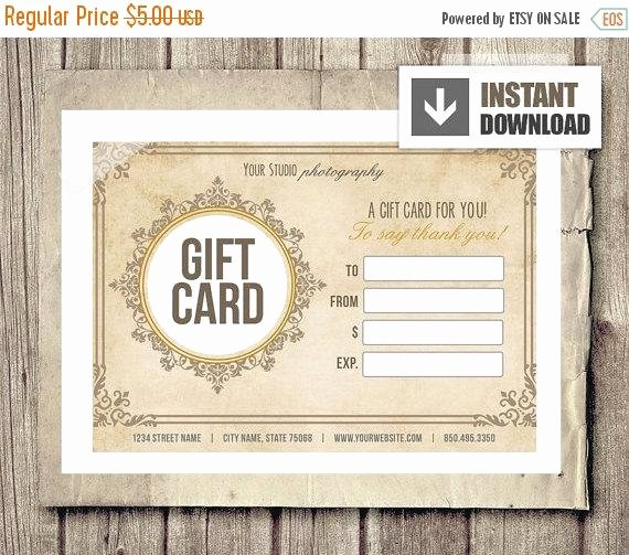 Photography Gift Certificate Template Free Best Of Off Sale Gift Card Certificate Template by