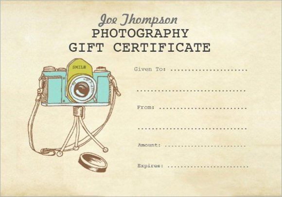 Photography Gift Certificate Template Free Elegant 12 Sample attractive Graphy Gift Certificate