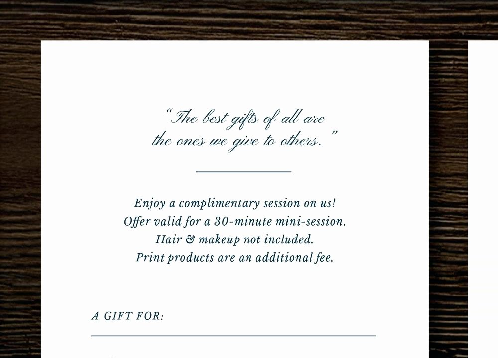 Photography Gift Certificate Template Free Elegant Free Graphy Gift Certificate Template Gift Ftempo