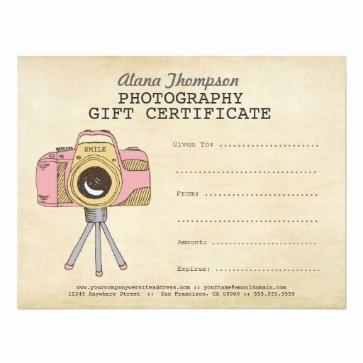 Photography Gift Certificate Template Free Fresh Grapher Graphy Gift Certificate Template