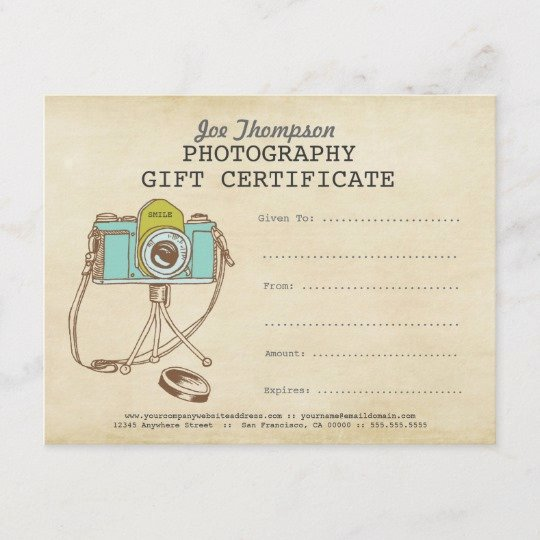 Photography Gift Certificate Template Free Inspirational Grapher Graphy Gift Certificate Template