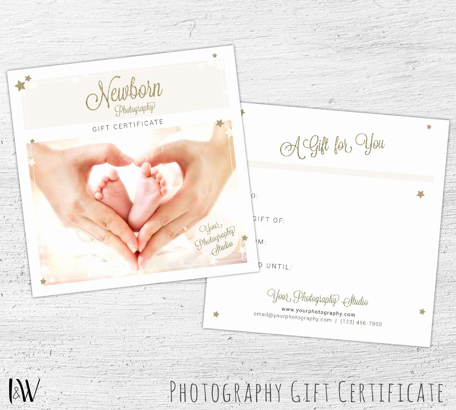 Photography Gift Certificate Template Free Inspirational Graphy Gift Certificate Shop Template for