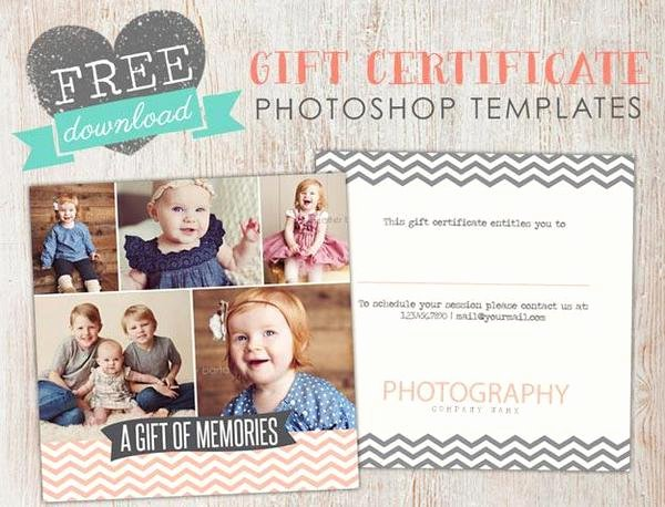 Photography Gift Certificate Template Free Lovely Free Gift Certificate Template Shop – Birdesign