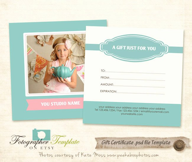 Photography Gift Certificate Template Free Lovely Gift Certificate Card Template Graphy Templates G112