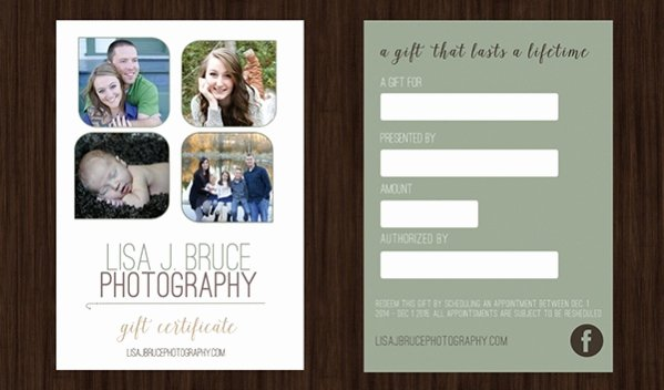 Photography Gift Certificate Template Free Luxury 16 Free Gift Certificates Psd Vector Eps Download