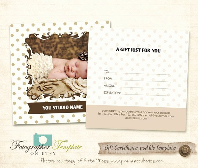 Photography Gift Certificate Template Free Luxury Gift Certificate Card Template Graphy Templates