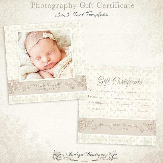Photography Gift Certificate Template Free Luxury Graphy Gift Certificate Photoshop Template 007 Id0105