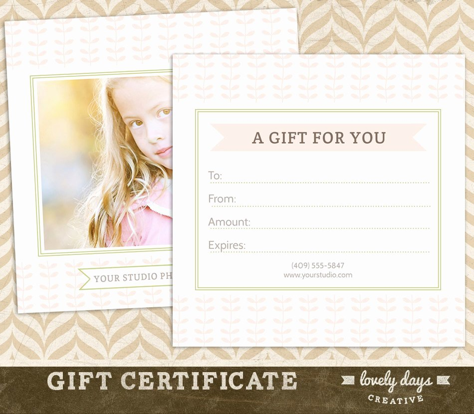 Photography Gift Certificate Template Free New Graphy Gift Certificate Template for Professional