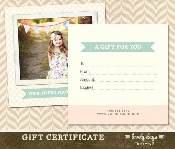 Photography Gift Certificate Template Free New Graphy Gift Certificate Templates – 17 Free Word