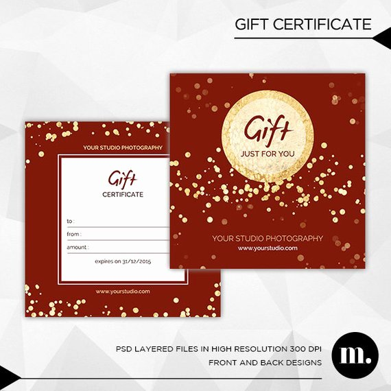 Photography Gift Certificate Template Free Unique Graphy Christmas Gift Certificate Template for by