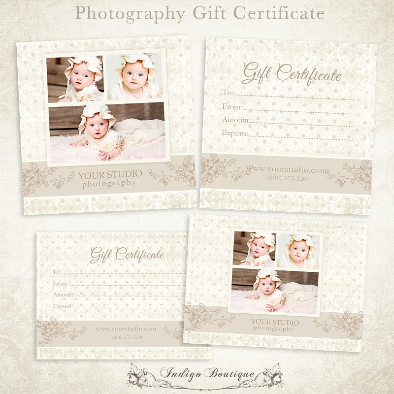 Photography Gift Certificate Template Free Unique Graphy Gift Certificate Photoshop Template by