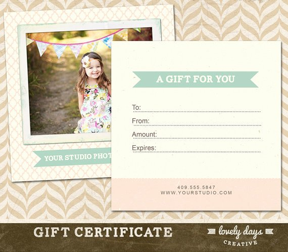 Photography Gift Certificate Template Free Unique Graphy Gift Certificate Template for Professional