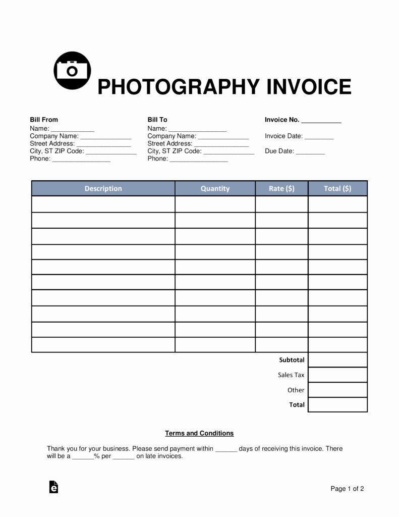 Photography Invoice Template Word Beautiful Graphy Invoice Invoice Design Inspiration