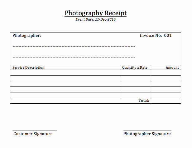 Photography Invoice Template Word Best Of Grapher Receipt Graphy Invoice Template Word