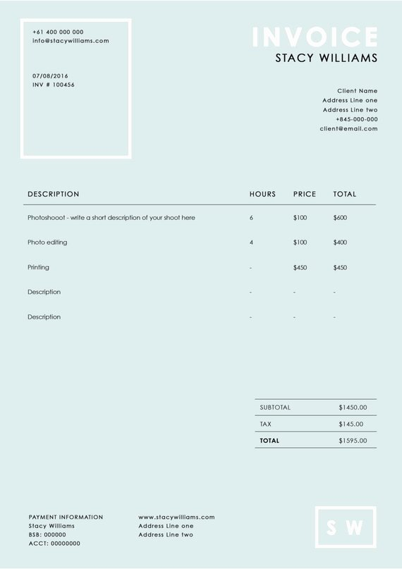 Photography Invoice Template Word Fresh Graphy Invoice Template Graphy Receipt Ms Word