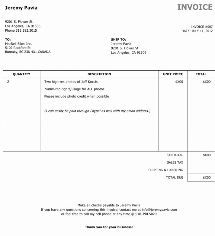 Photography Invoice Template Word Lovely Graphy Invoice Template