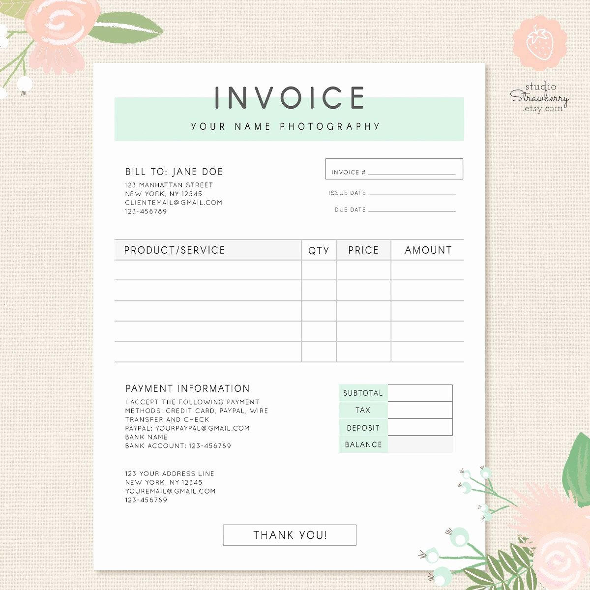 Photography Invoice Template Word Lovely Invoice Template Graphy Invoice Business Invoice