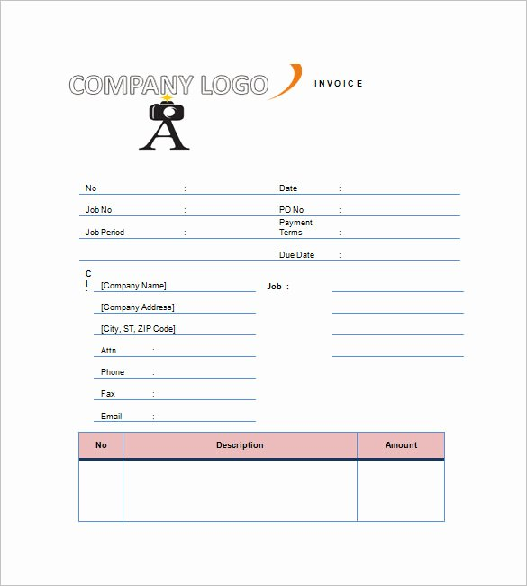 Photography Invoice Template Word Luxury Graphy Invoice Template 7 Free Word Excel Pdf