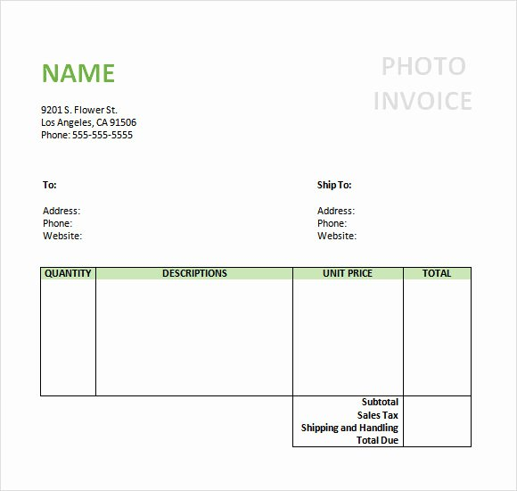Photography Invoice Template Word Unique Graphy Invoice Template Word