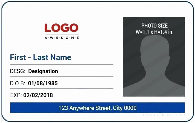 Photoshop Id Card Template Beautiful Id Card Templates Free Sample Example format Download