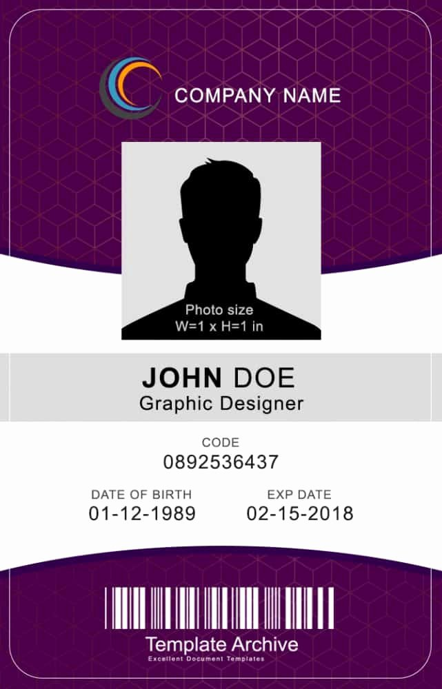 Photoshop Id Card Template Best Of 16 Id Badge & Id Card Templates Free Template Archive