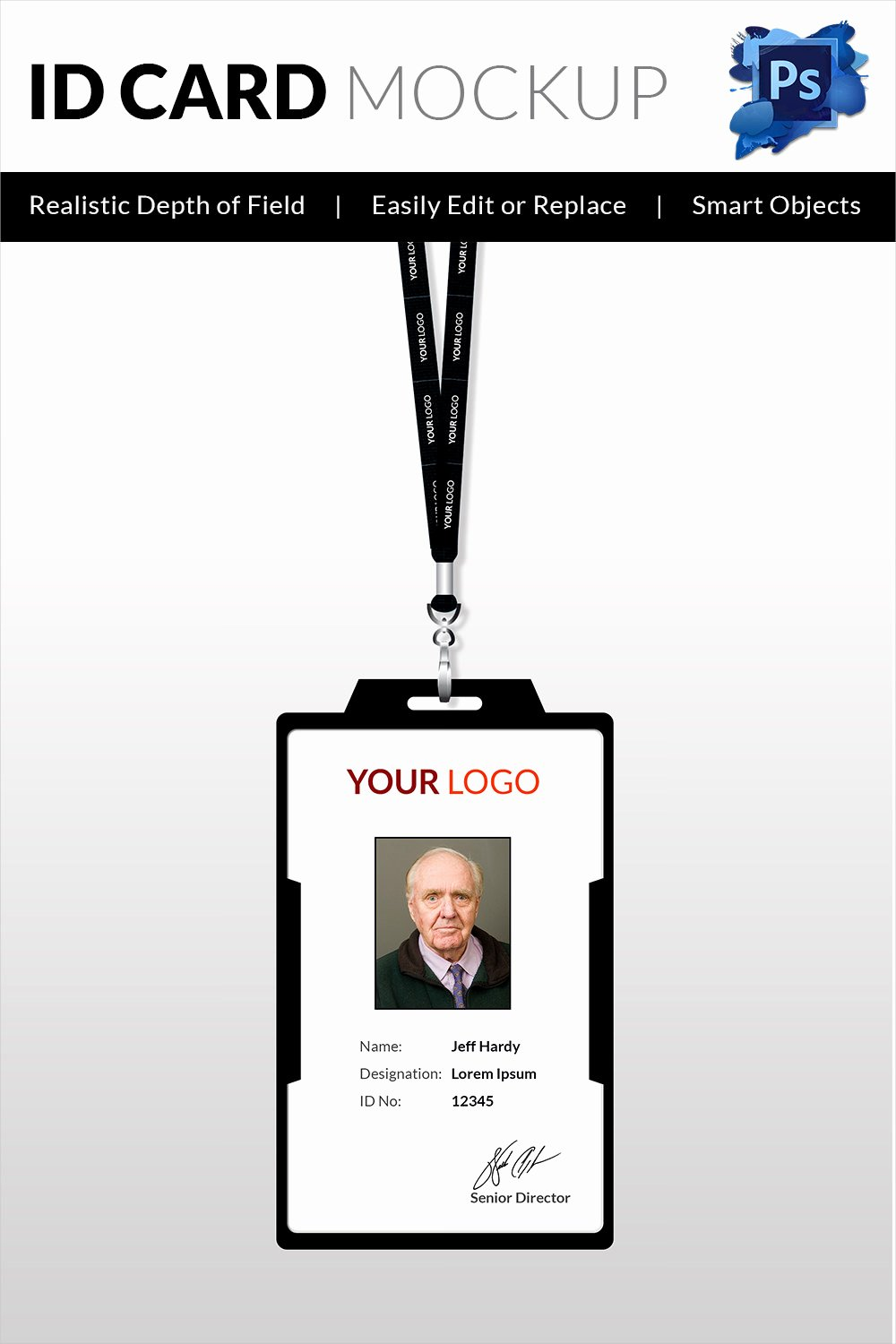 Photoshop Id Card Template Elegant 30 Blank Id Card Templates Free Word Psd Eps formats