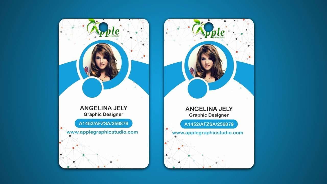 Photoshop Id Card Template Elegant Design Id Cards & Id Badge Adobe Shop Tutorial