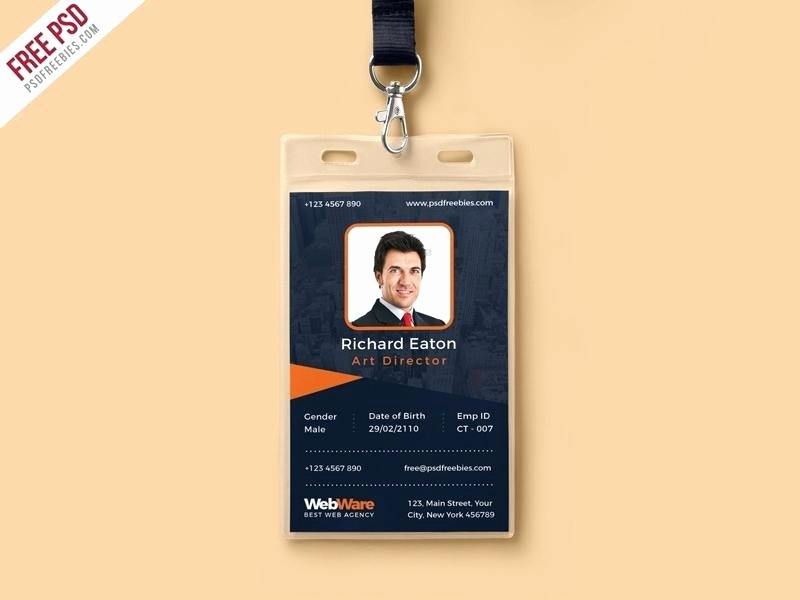 Photoshop Id Card Template Fresh Shop Id Card Template for Identification Templates
