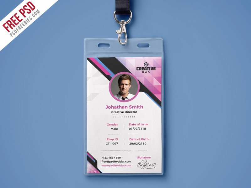Photoshop Id Card Template Inspirational Pany Identity Card Psd Template