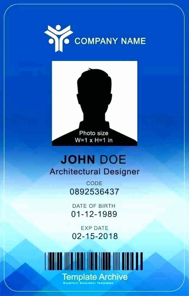 Photoshop Id Card Template Lovely Template Vertical Id Card Template Employee Staff Badge
