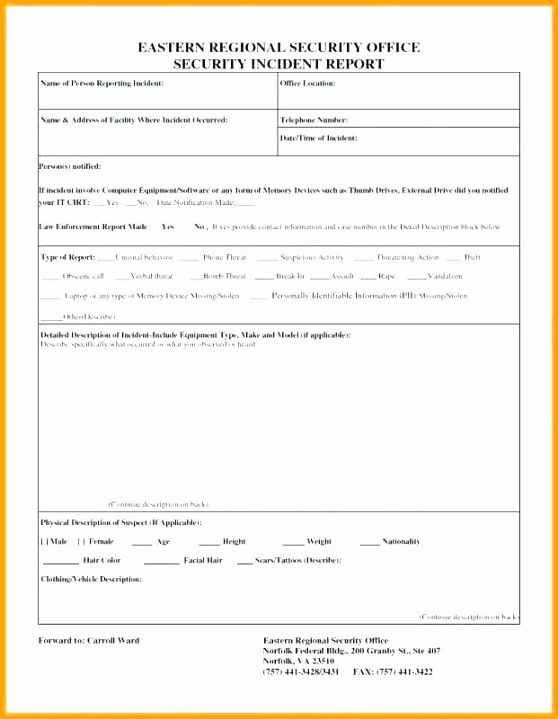 Physical Security assessment Report Template Beautiful Physical Security Report Template