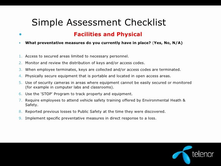 Physical Security assessment Report Template Elegant Physical Security assessment