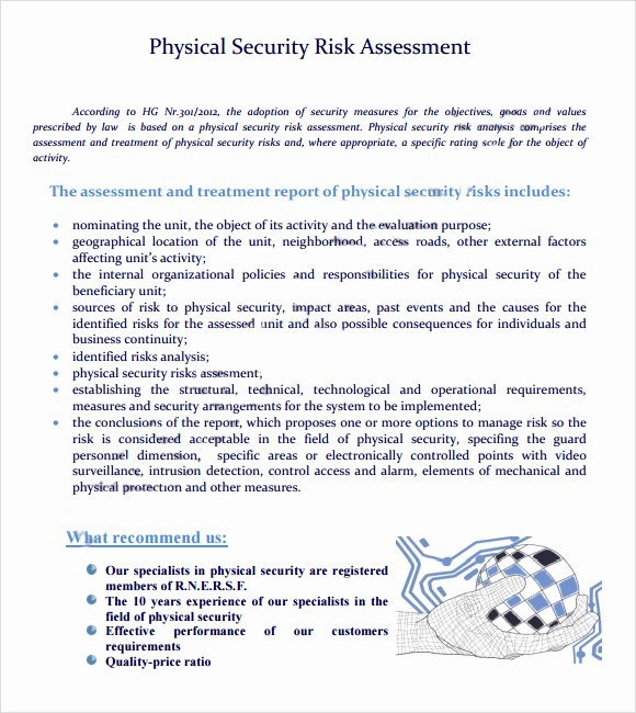 sample security risk assessment